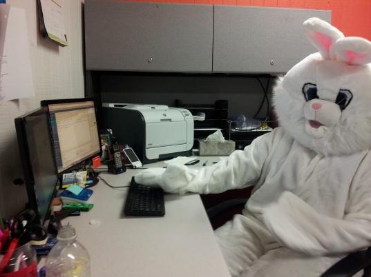 Hard at work at the WCVB office!
