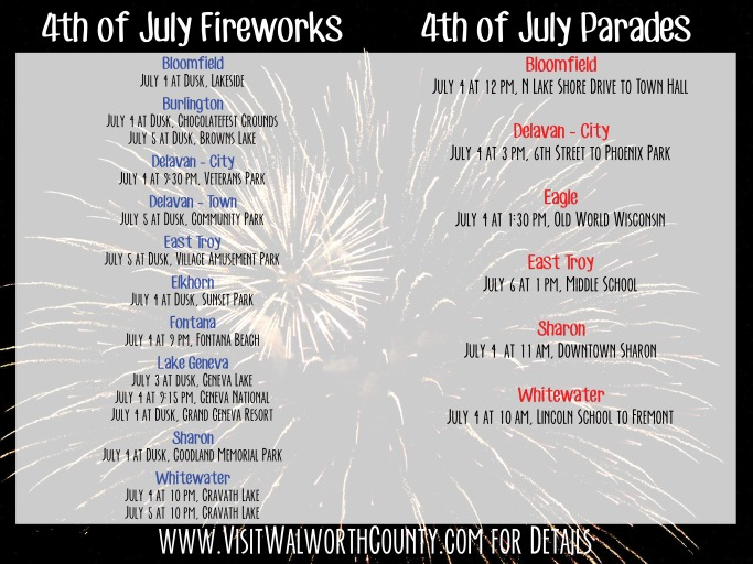 2014 July 4 Fireworks Parades