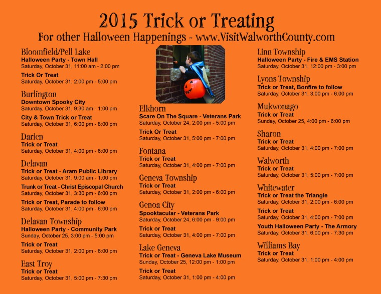 2015 Trick or Treat