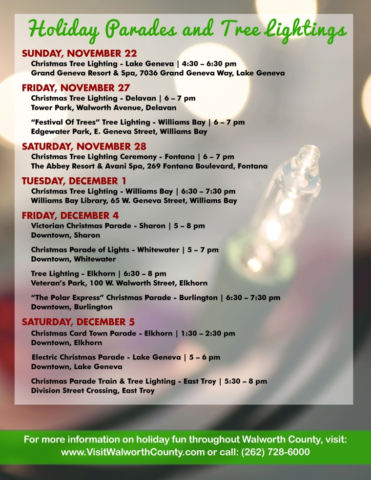 Holiday Parades and Tree Lightings 2015