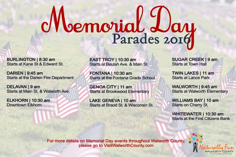 Walworth County Memorial Day Parades 2016