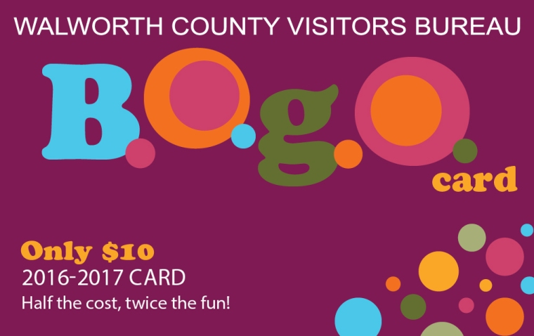 Walworth County Visitors Bureau 2016 Bogo Card