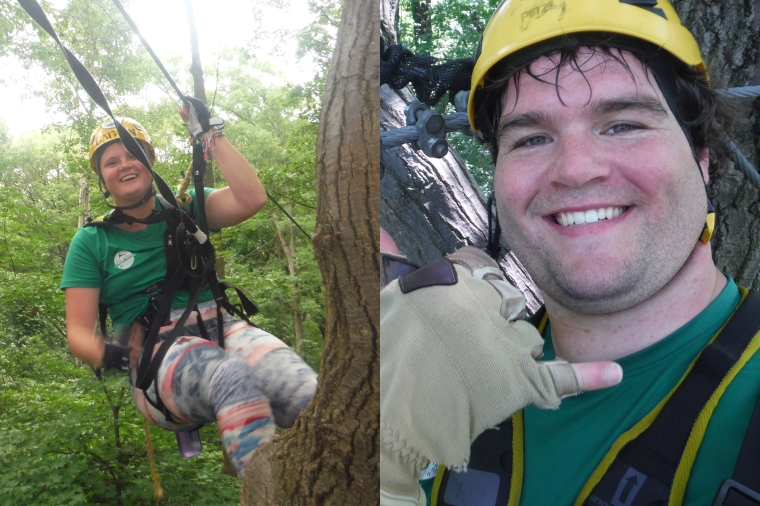 Caitlyn and John - Tour Guides from Lake Geneva Canopy Tours