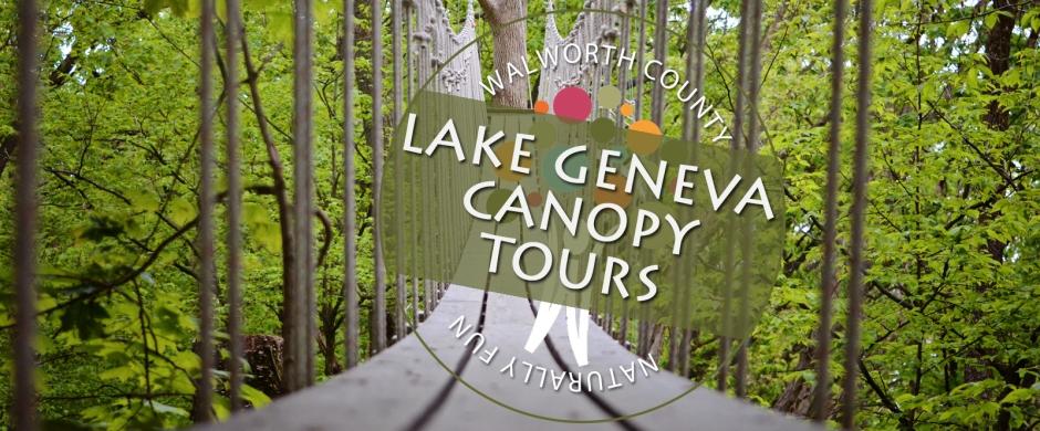 Experiencing adventure at Lake Geneva Canopy Tours in Lake Geneva, Walworth County, WI.