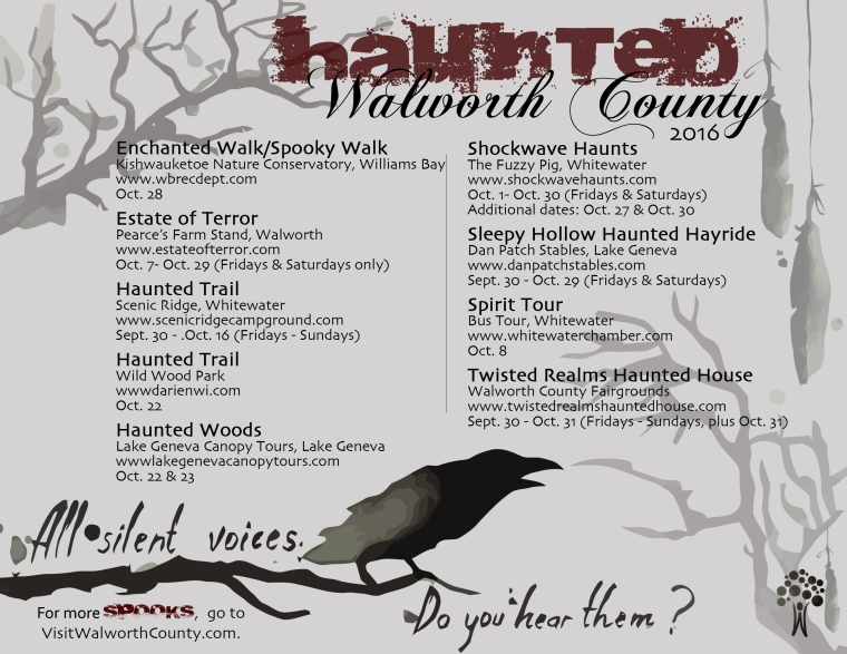 Halloween Haunts around Walworth County.