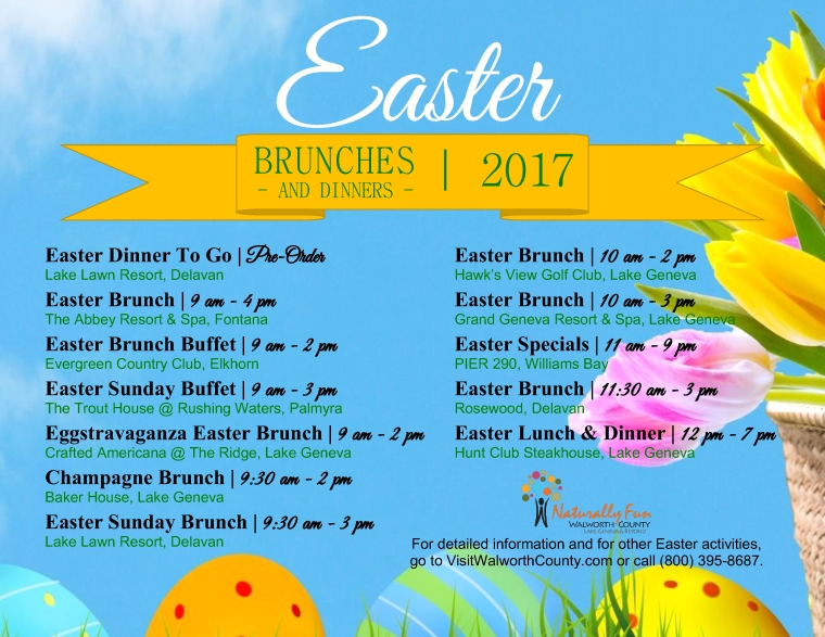 Easter Brunches 2017 2