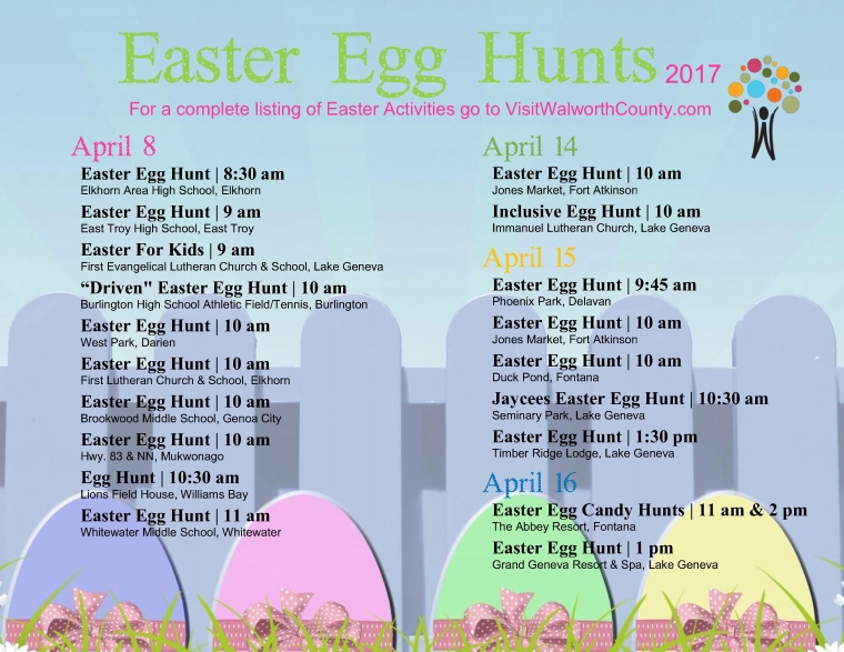 Easter Egg Hunts 2017