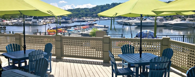 Waterfront at Abbey Resort_outdoor seating