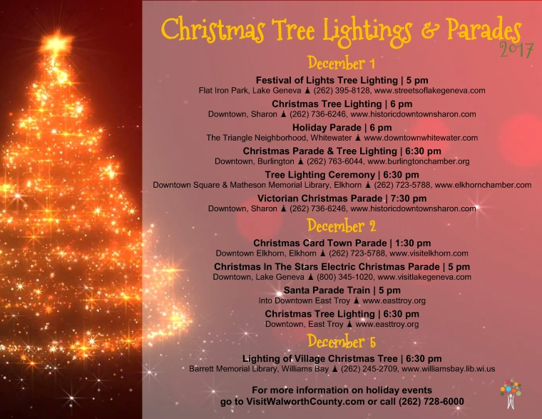Christmas Parades & Tree Lightings 2017