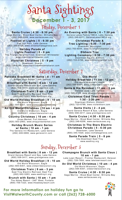 Santa Sightings Dec 1-3