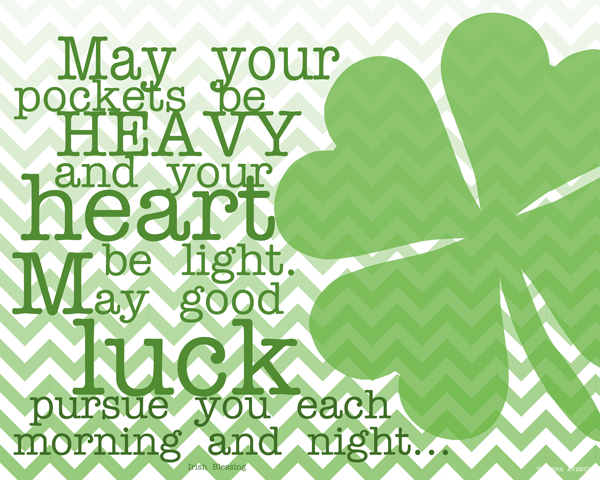 St Patrick's Day Irish blessing