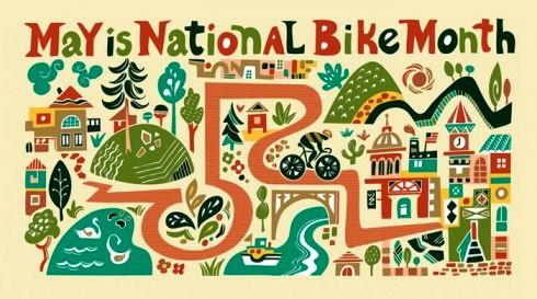 national-bike-month-artwork-by-illustrator-carolyn-vibbert
