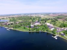 property view from sky over lake