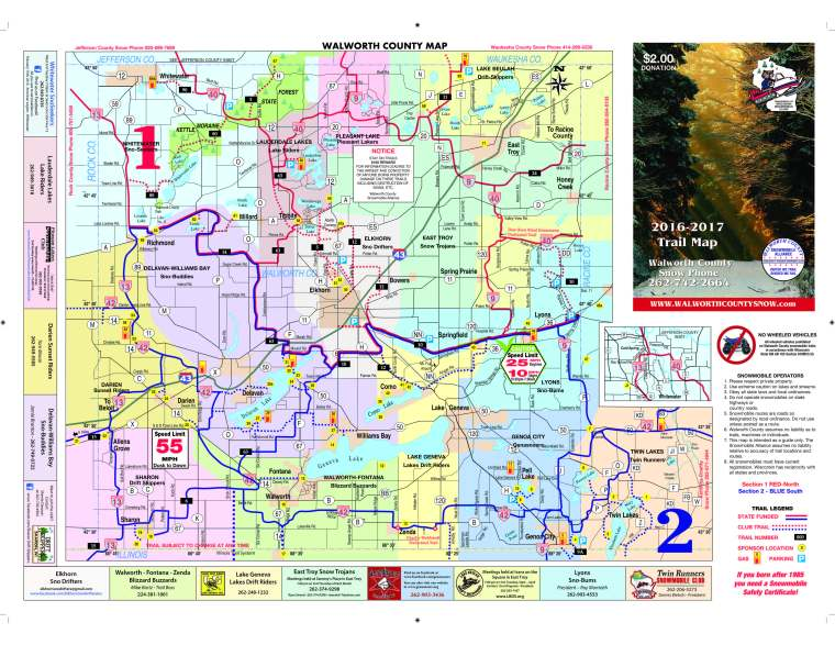 2016-17 Snowmobile Trail map